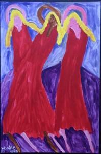 """Recital"", acrylic on paper, 35"" x 23"", unframed, $1050u (7729)"