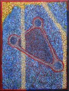 """Nexus"" by Pak Nichols  acrylic on canvas  24"" x 18""  unframed  $600   #9381"