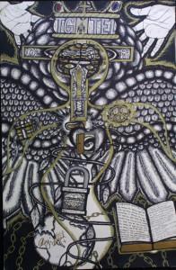 """Inner Spirit"" by William ""Sezah"", permanent ink on heavy paper, 32"" x 23.5""unframed, $750 (11169)"