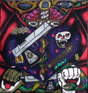 """Muderous Intent""by William ""Sezah"", permanent ink on matboard, 12.75"" x 12"" unframed, $350 u (11180)"