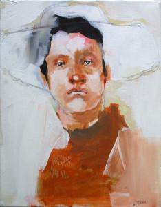 """Range Portrait I"" acrylic on canvas 14"" x 11"" in frame $650"