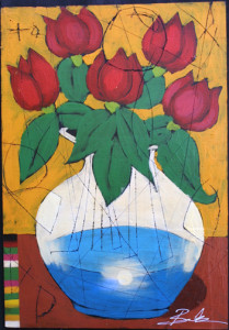 """Bloomed"" by Michael Banks  24"" x 16.5""  acrylic on thin panel $800 unframed  #10973"