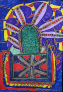"""The Map to Freedom"" d. 2006  by Brenda Davis  pens, marker on paper  12"" x 8.25""  unframed  $650  (11670)"