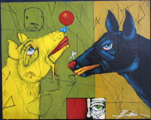 """""""Float"""" by Michael Banks mixed media on wood,unframed, $900u (10972)"""