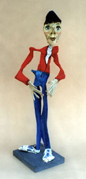 """The Yo Man"" 1999 by Hope Atkinson  acrylic on papier mache  22.75"" x 7"" x 6.75""  $900  #3934"
