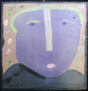 """George Washington""     c. 1995  by Mose Tolliver  house 24"" x 23""  $800  #11876"