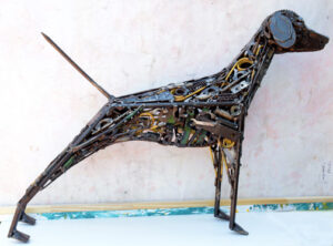 """""""Dixie"""" by Ray Bellew welded found metals 32"""" x41"""" x9.25 $4000 #12968"""
