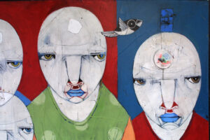 """""""Propane"""" by Michael Banks acrylic, mixed media on wood unframed 32.25"""" x 48"""" $2200 #13024"""